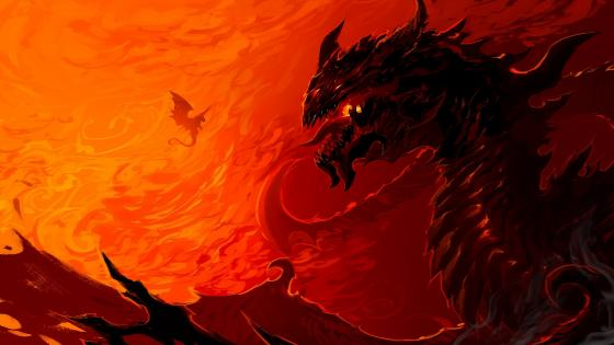 Red dragon wallpaper