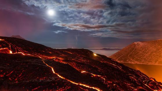Tolbachik Volcano wallpaper