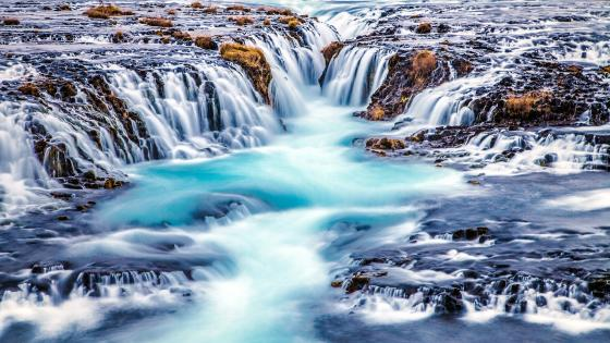 Bruarfoss Waterfall (Iceland) wallpaper