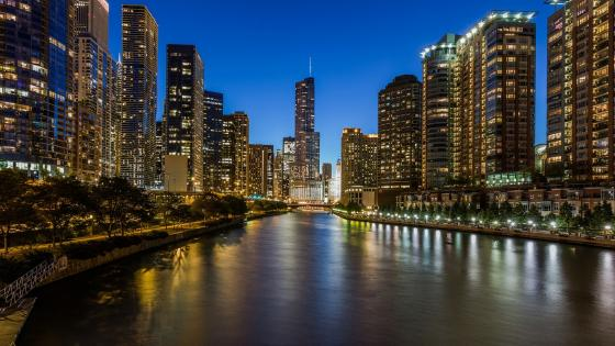 Lights of Chicago wallpaper