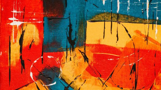 Abstract acrylic painting art wallpaper