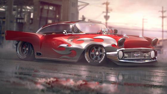 Chevrolet Bel Air art wallpaper