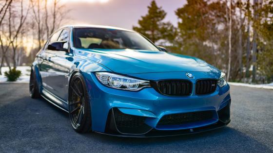 Blue BMW M3 wallpaper