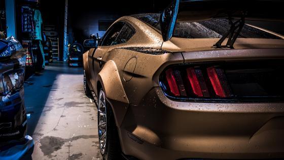 Golden car wallpaper