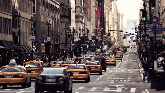 New York City street wallpaper