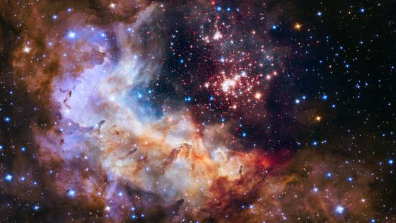 NASA Unveils Celestial Fireworks as Official Hubble 25th Anniversary Image wallpaper