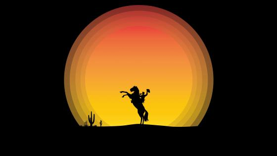 Cowboy Silhouette wallpaper