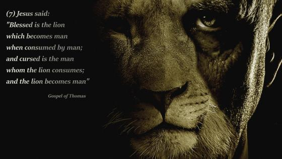 Lion or Man wallpaper
