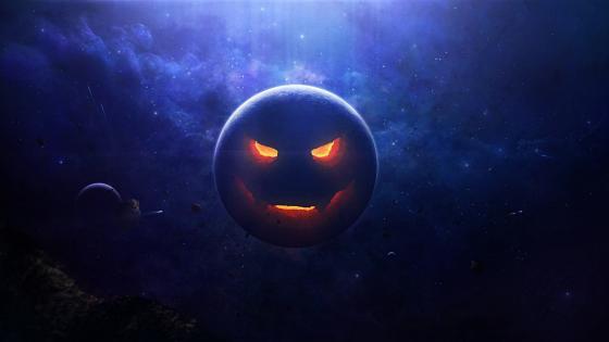 Planet Jack-o'-lantern wallpaper