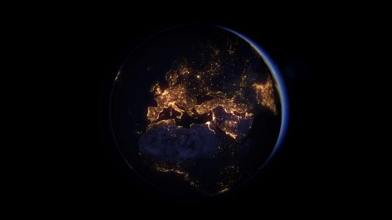 Earth at night wallpaper