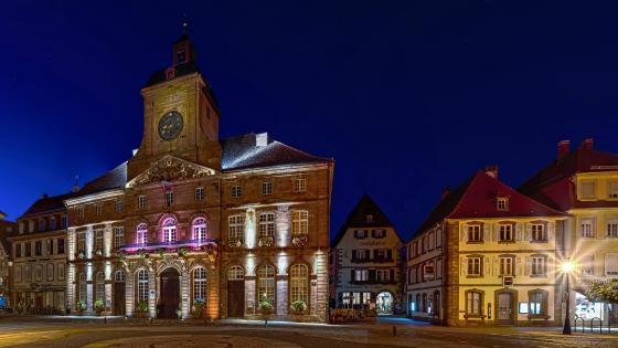 Weissenburg city hall wallpaper