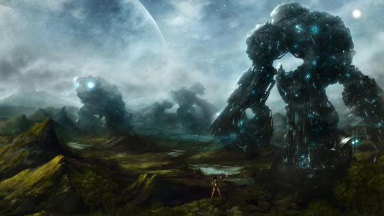 Giant robot wallpaper
