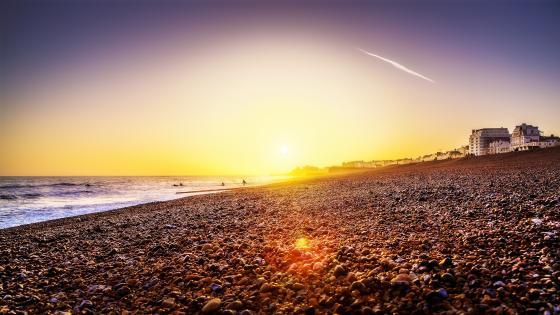 Brighton Beach Sunset wallpaper