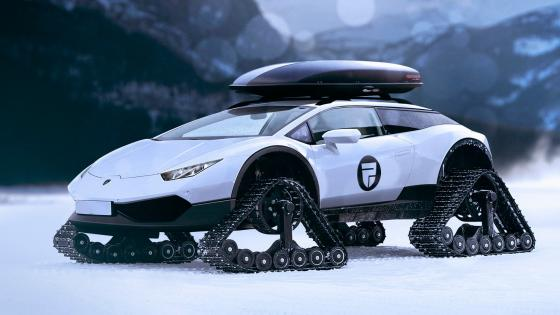 Lamborghini Huracàn Snowmobile wallpaper