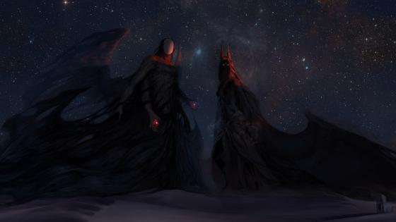 Mystical dark angel wallpaper