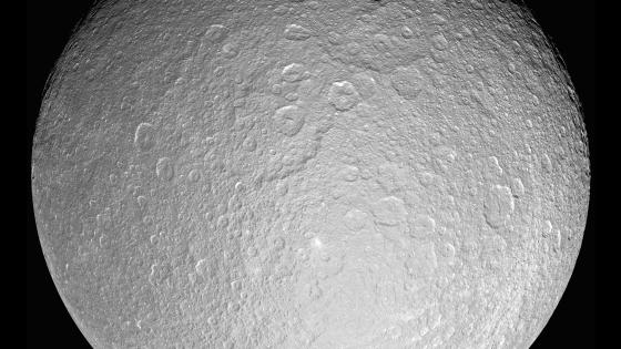Saturn's Moon Rhea wallpaper
