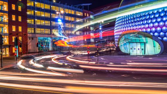 Bullring Light Trails wallpaper