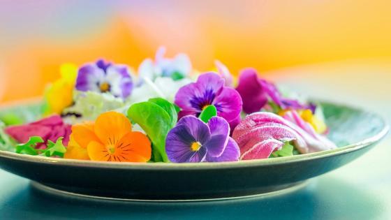 Edible flowers wallpaper