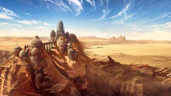 Desert Castle wallpaper