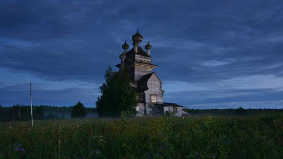 Church of Our Lady of Vladimir in Podporozhye wallpaper