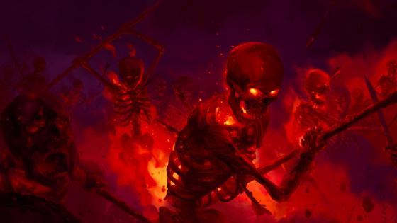 Skeleton fight wallpaper