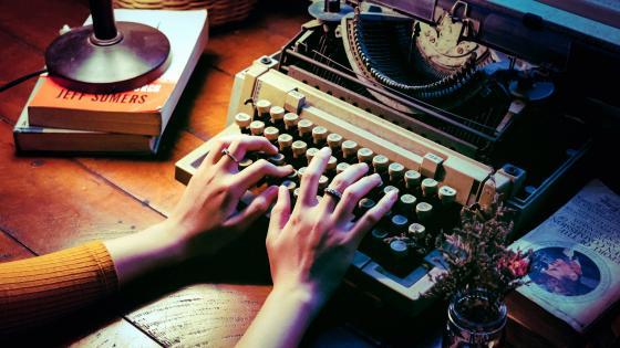 Vintage typewriter wallpaper