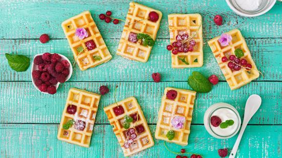 Belgian waffle wallpaper