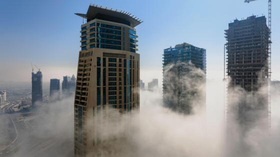 Dubai's Skyscrapers Above the Clouds wallpaper