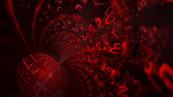 Red abstract digital art wallpaper