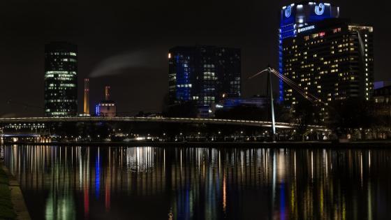Frankfurt City Lights wallpaper