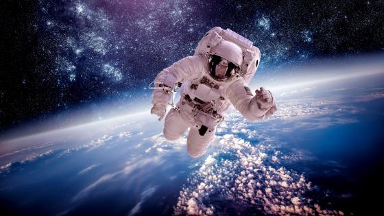 Space walk wallpaper