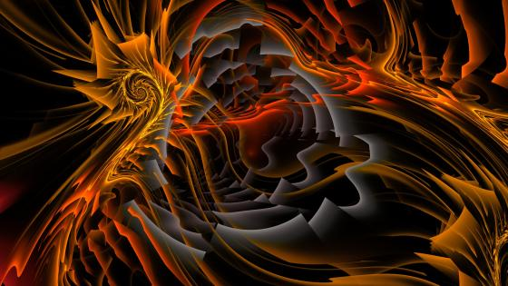 Warm fractal art wallpaper
