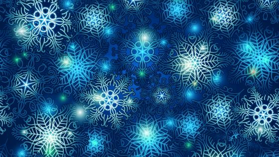 Blue snowflake pattern wallpaper