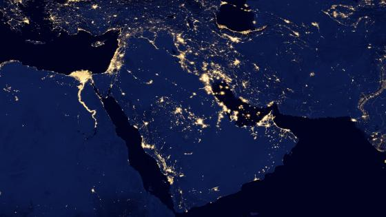 Night Lights of the Arabian Peninsula v2012 wallpaper