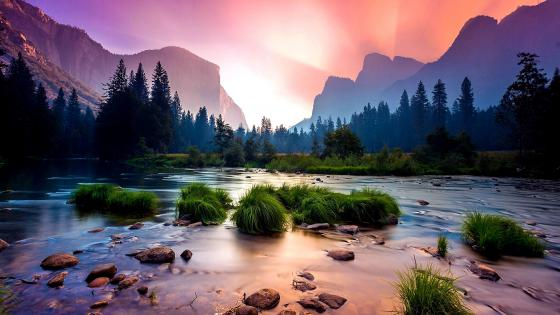 Merced River at Yosemite Valley wallpaper
