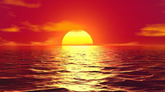 Red sunset ☀️ wallpaper