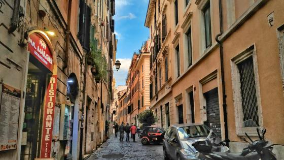 Beautiful street in Rome, Italy wallpaper