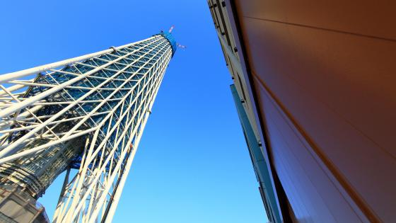 Low-Angle Shot of the Tokyo Skytree wallpaper