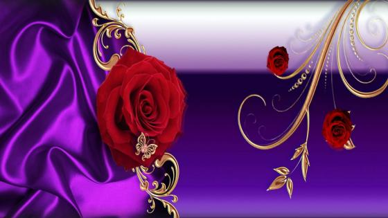 Floral Violetta wallpaper
