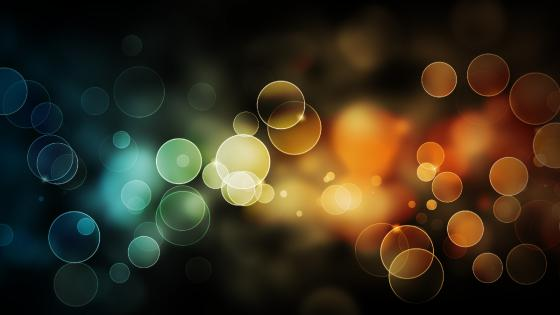 Bokeh colours wallpaper