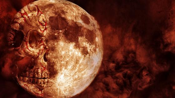 Skull moon wallpaper
