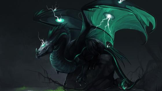 Green dragon wallpaper