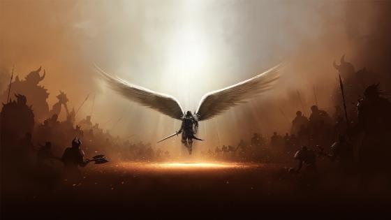 Warrior angel wallpaper