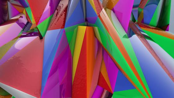 Origami abstraction wallpaper