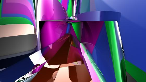 3D colorful abstraction wallpaper