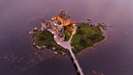 Eilean Donan Castle aerial photography wallpaper