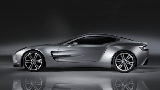 Aston Martin monochrome photo wallpaper