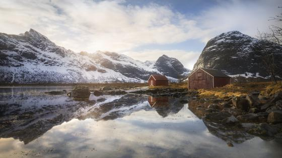 Selfjord (Lofonten, Norway) wallpaper
