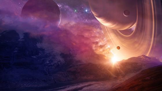 Landscape from an alien planet wallpaper