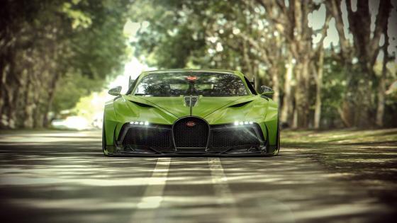 Green Bugatti Divo wallpaper